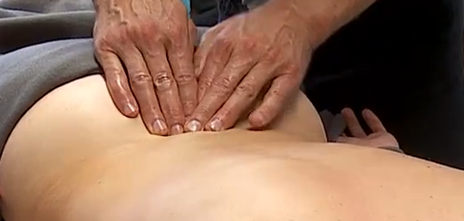 Teraapiline massaaž. Selg